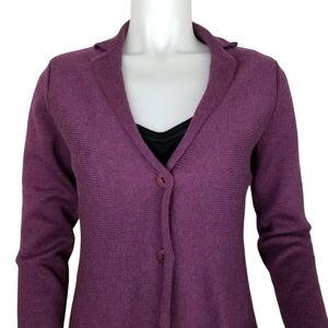 Eileen Fisher Sz 2-4 Petite Merino Wool Cardigan